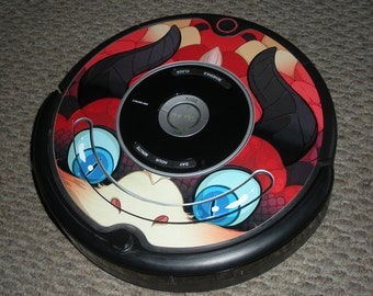 Roomba 500 Series Monster Decal - Red or Blue