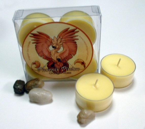 Sale! Golden Rose - Phoenix Pinion - Soy Tealights
