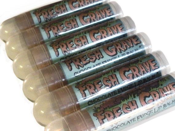 Sale! Fresh Grave - Chocolate Fudge Zombie Lip Balm