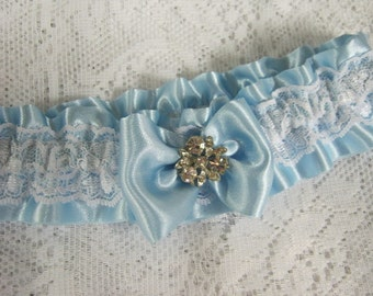 Pale Blue Heirloom Garter
