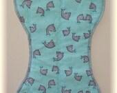 Dolphin Baby Burp Cloth