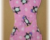 Burp Cloth - Penguins on Pink
