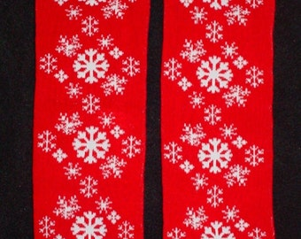 Leggings Snowflakes for Baby Toddler Child (one size fits most) Leg or Arm Warmers - Snowflake leggings for Christmas or Winter