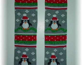 Leggings Penguin for Baby Toddler Child (one size fits most) Leg or Arm Warmers - Penguin leggings for Christmas or Winter