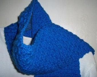 Lattice Stitch Scarf in Blue
