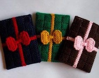 Gift card Holders - Set of 3 - MADE TO ORDER -Your Choice of Colors ~ Christmas in July