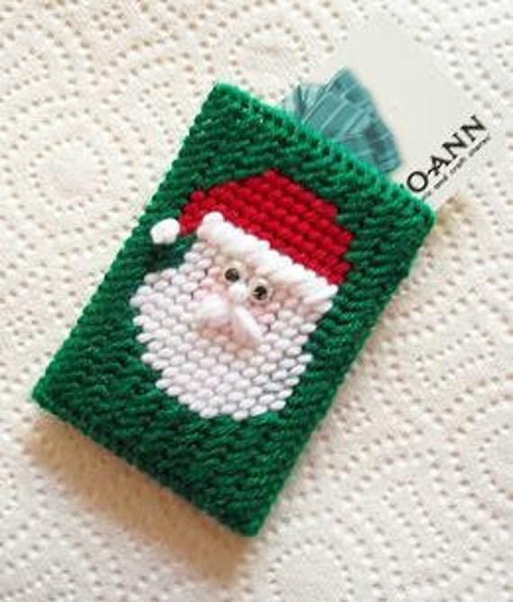 Santa Claus Gift Card Holder Green Background