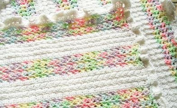 Confetti Kisses Baby Afghan - Made to order