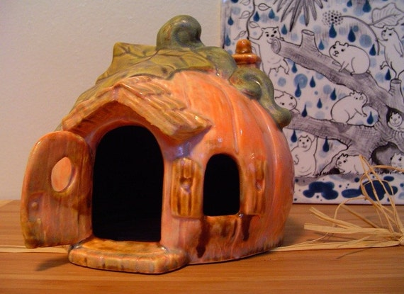 Dwarf Hamster Pumpkin House Earthenware Ceramic