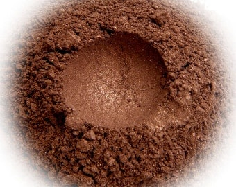 5g Mineral Eye Shadow - Chocolate Satin - Chocolate Brown With Shimmer