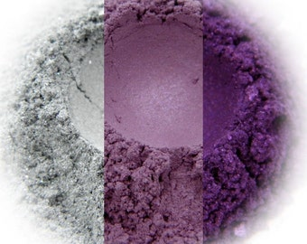 Rapture Eyeshadow Trio - Silver, Lilac Shimmer, Violet Shimmer