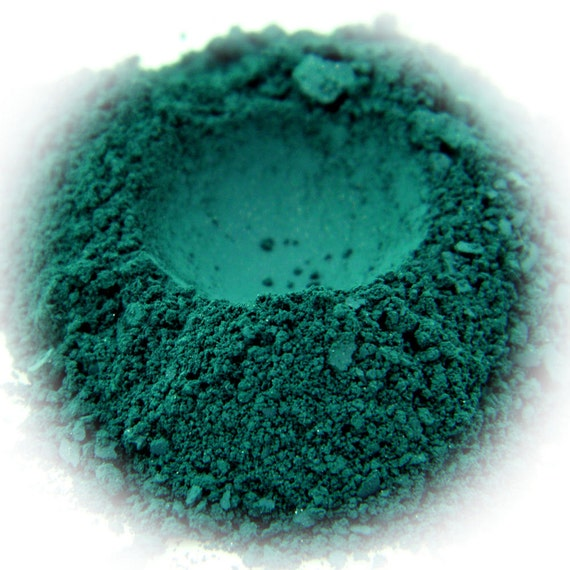 5g Mineral Eye Shadow - Forest - Dark Green With Suede Finish
