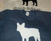 French Bulldog Silhouette Sweatshirts - Free Shipping