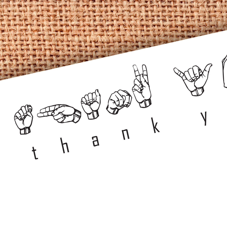 Sign Language Alphabet Thank You Notes Set of 8 FREE