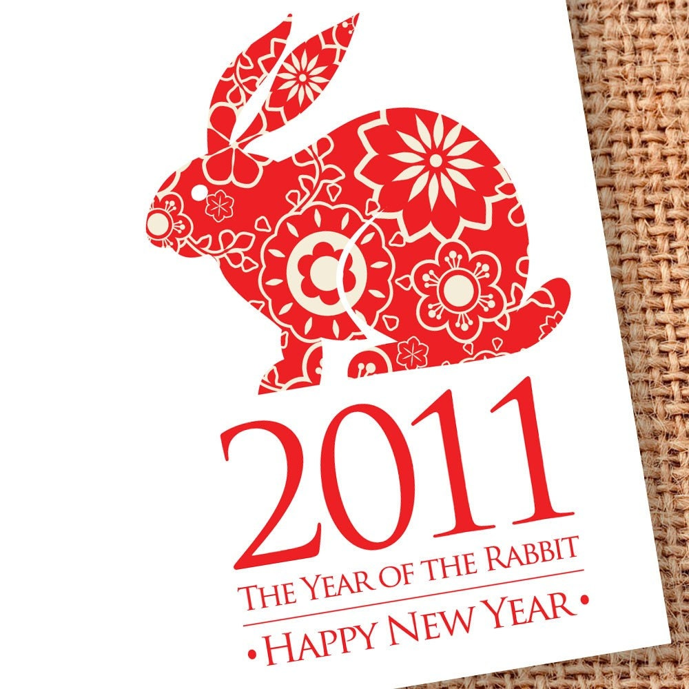 year of the rabbit cards 2011 chinese new by edencreativestudio. Black Bedroom Furniture Sets. Home Design Ideas