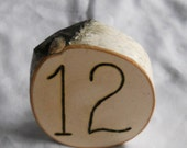 Table Numbers for your Elegant Rustic Wedding Hand Wood Burned