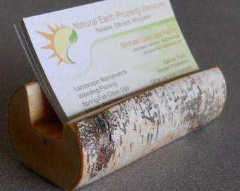 Birch Branch Business Card Holder