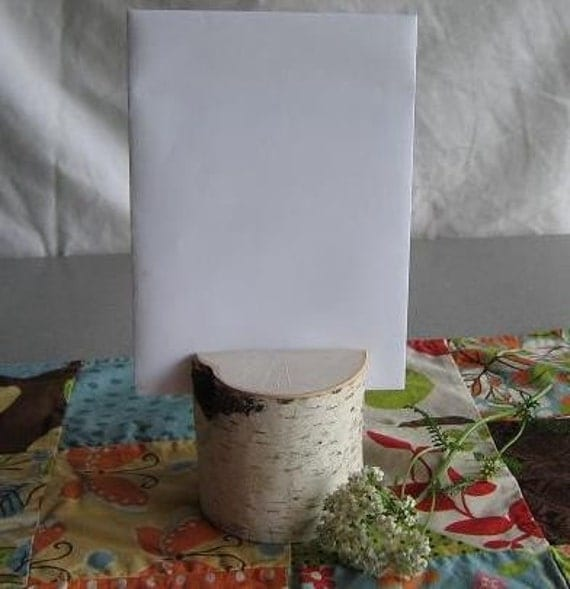 Reserved - 20 Birch Branch Menu Card Holders, Sign Holders