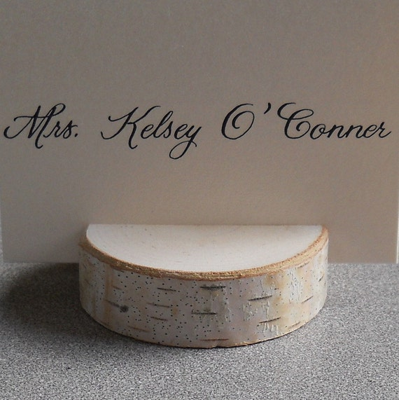 Reserved - 10 Rustic Wedding Decor Birch Branch Short Stump Place Card Holders for Weddings Special Event