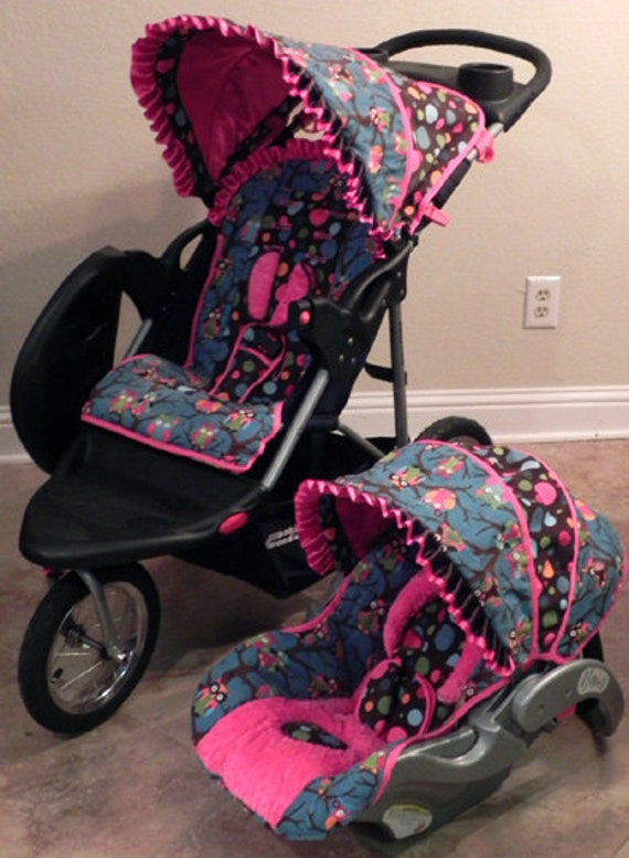 custom infant cutie owl baby trend flex loc car seat cover and. Black Bedroom Furniture Sets. Home Design Ideas