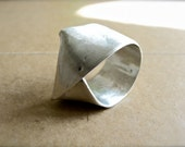 Blake signature ring brushed matte silver - Simple elegance women jewelry - Reserved for edwojcik