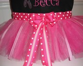 Tutu Tote Dance Bag - Personalized with any name and Ballet Slippers