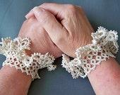 Tatted Lace Wrist Ruffles-pair