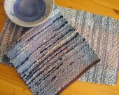 Table Runner or Narrow Rag Rug Handwoven Recycled Denim