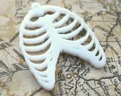 3 x RIBCAGE skeleton pendants laser cut acrylic
