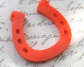 3 x HORSESHOE pendants laser cut acrylic