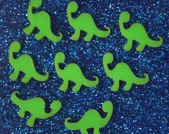 8 x Laser cut acrylic dinosaur cabochons