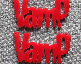 2 x Laser cut acrylic Vamp pendants