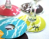 Printable Paper Modern Botanicals Wine Glass Slipper Name Card Tags