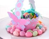 Cotton Candy Pink and Blue Printable Polka Dot Basket