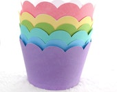 Bold Scallop Brights Printable Cupcake wrapper collection 6 colors