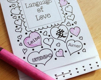 Posh Printables Love Coloring Book Card Print as many as you need