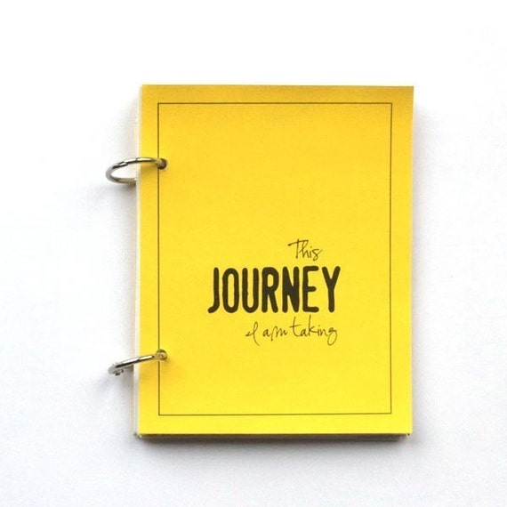 Travel Journal, Vacation Journal - Journey in Summer Sun Yellow