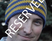 RESERVED Toque Royal Blue and Dark Yellow