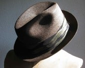 Vintage 1950's to 1960's THOROUGHBRED Classic Woven Straw Men's Fedora