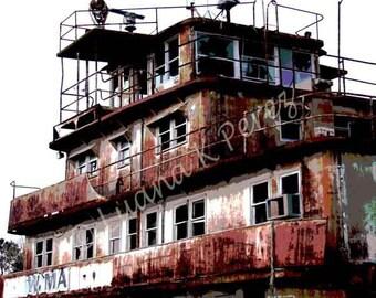 Katrina Ghost Boat in Louisiana