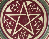 Embossed Pentacle/ Pentagram Star Design in Porcelain