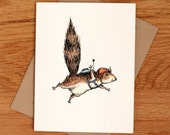 Skydiver Squirrel, individual card.