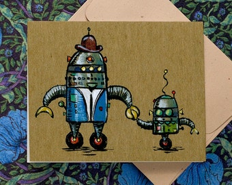 Robot Dad, Father's Day card.