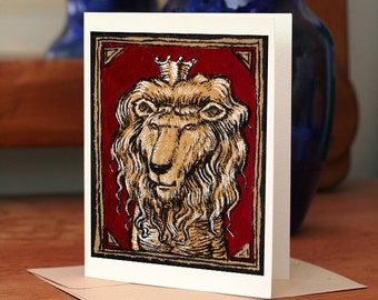 King Lion, father's day card