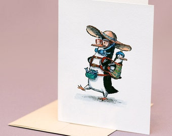 Penguin Mom, individual Mothers Day card.