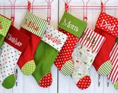 Custom order for littleonekris for 5 Stockings