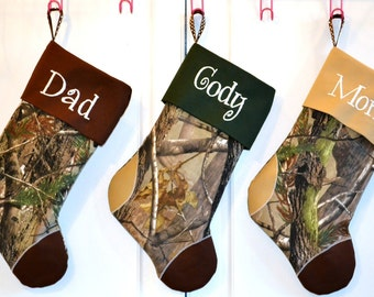 Camo Christmas Stocking for sara