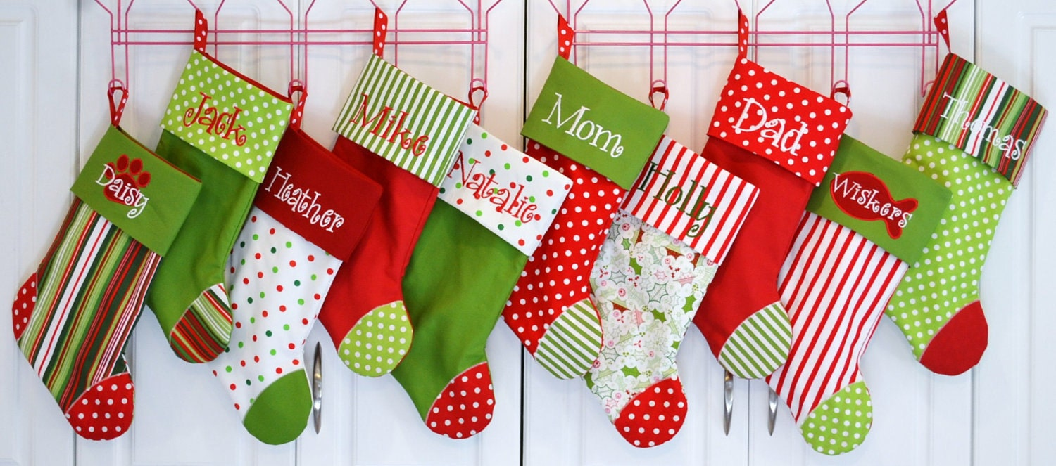 Christmas Stocking Choose Your Color Combo And