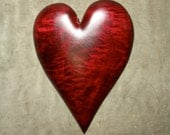 Personalized Wedding gift, Red, The Heart, gift for Wedding, wood carving, birthday, carved by Gary Burns the Wiz, handmade woodworking