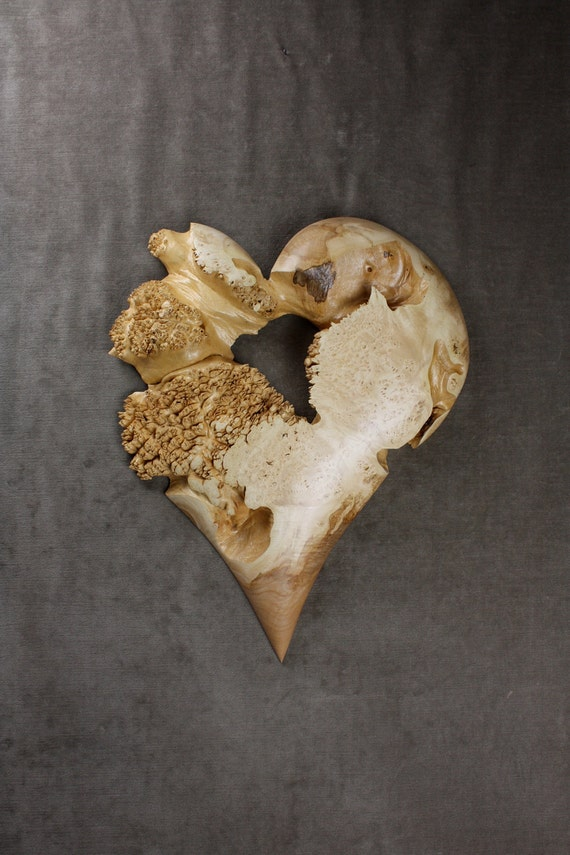 Sold To Melissa-Layaway-SoldAnniversary Gift Wood Heart Carving, Great Personalized Christmas Gift by Gary Burns the Treewiz